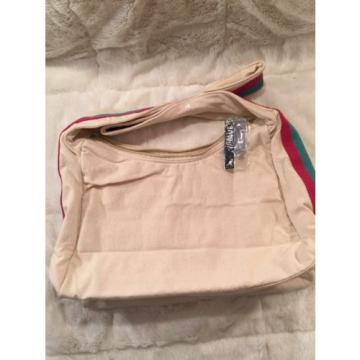 NWT KANGOL Ladies Women's Tote Purse Beach Bag Messenger Cross Body Beige