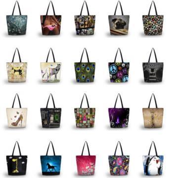 Ladies Large Tote Shoulder Shopping School Bag Handbag Beach Bag w/zipper pocket