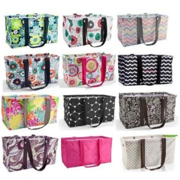 Thirty one LARGE UTILITY TOTE Bag basket beach laundry 31 gift party punch more