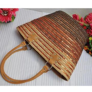 New Women  Straw Weave Woven Summer Beach Tote Big Shoulder Bag Handbag!