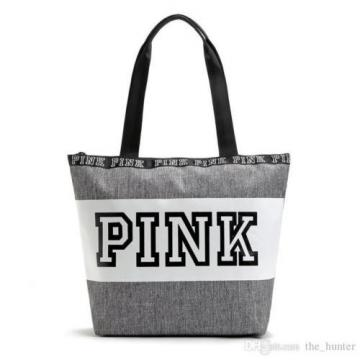 Waterproof -  NWT -  Victoria's Secret PINK -  Large Tote/Beach Bag - Gray