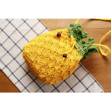 Cute Yellow Pineapple Women Girls Crossbody Bag Summer Beach Shoulder Bags New