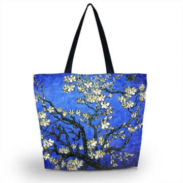 Flower Lady Girl's Shopping Shoulder Bags Women Handbag Beach Bag Tote HandBags