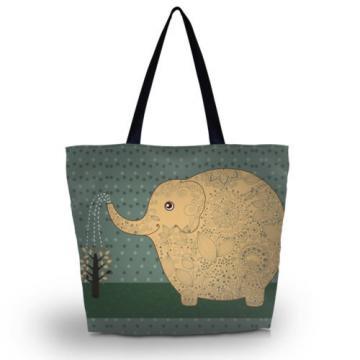 Elephant Shopping Beach Travel School Shoulder Bag Women Hobo Handbag Light
