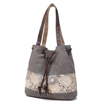 New Women Floral Canvas Bucket Casual Shoulder Bag Beach Bags Shopping Handbags