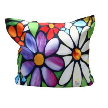 Flowers Soft Foldable Tote Women's Shopping Bag Shoulder Bag Handbag Beach Case