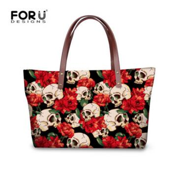 Designer Handbags Unique Skull Beach Shopping Bag for Women Tote Hand Bag Purse