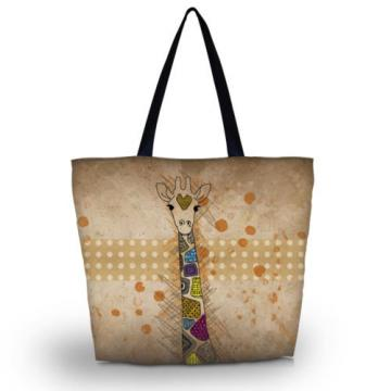 Giraffe Women's Shoulder Shopping Bag Tote Reusable Beach Satchel School Handbag