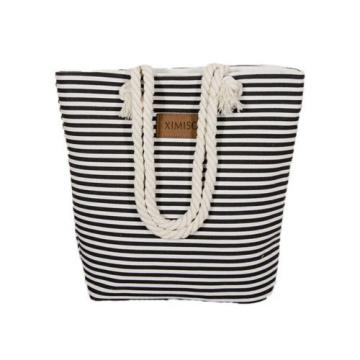 Beach Bags Leisure Summer Canvas Shopper Shoulder Bag Striped Big Capacity New