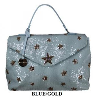 Beautiful NEW summer beach baby Blue sequin Gold Stars Large Bag