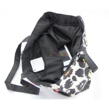 Dogs Shopping Tote Beach Travel School Shoulder Zipper Bag Women Hobo Handbag