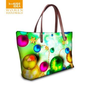 Christmas Girl's Shopping Shoulder Bags Women Handbag Beach Bag Tote HandBags