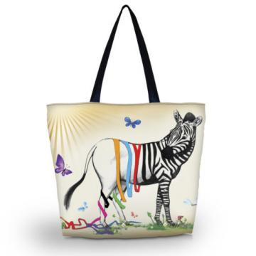 Zebra Women Beach Tote Big Shopping Shoulder Bag Purse Handbag Travel School Bag
