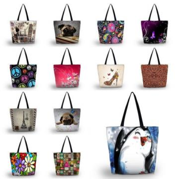 Various Custom Design Tote Shopping Bag Beach Shoulder Handbag School Light Bag