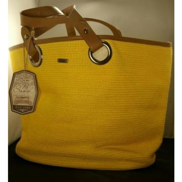 YELLOW BEACH BAG ACCESSORY WITH TAGS -SPRING BREAK/ SUMMER VACATION