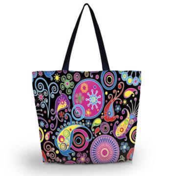 Colorful Women Ladies Shoulder Shopping Tote Beach Satchel School Handbag Bag