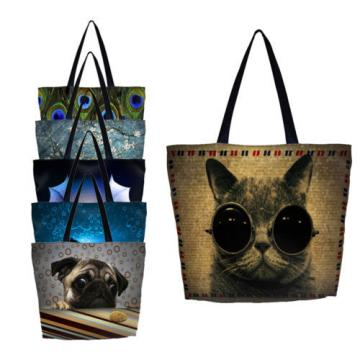 Cat Women Eco Shopping Bag Shopper Tote Shoulder Bag Beach Satchel Handbag Bags