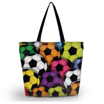 Football Women Beach Tote Shoulder Bag Purse Handbag Travel School Folding Bag