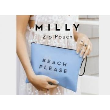 Milly Zip Pouch Clutch Bag Blue Beach Please  - FabFitFun