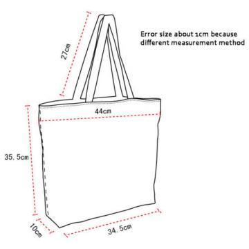 Pug Women's Large Capacity Zipper Handbag Shopping Bag Tote Shoulder Beach Bag