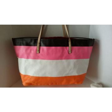 Kate Spade New York Tote Shopper Beach Cabana Stripe Harmony $278 Shoulder Bag