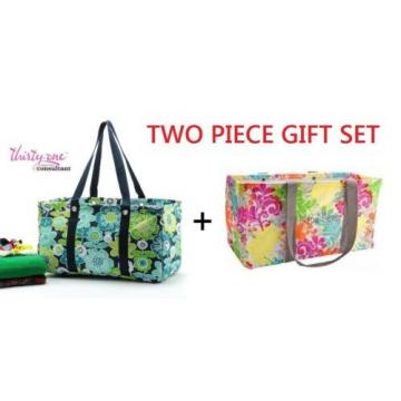 GIFT SET Thirty one LARGE UTILITY TOTE Bag basket beach laundry 31 more design