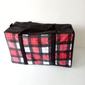 Woman handbag canvas travel bag  lattice storage bag large size Beach bag