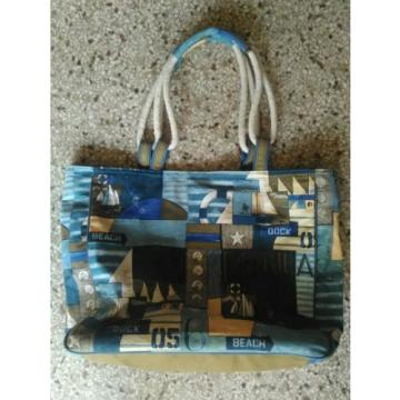 Paul Brent: Large Zippered Tote Bag - Nautical, Beach, Sailboats