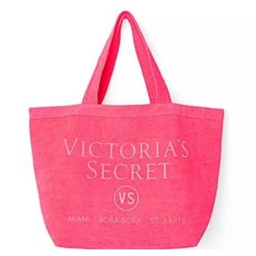 Victoria Secret Terry Pink Beach Swim Tote Bag