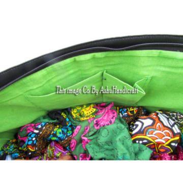 Indian Cotton Suzani Embroidery Handbag Woman Tote Shoulder Bag Beach Boho Bag13