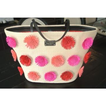 NEW NWT Kate Spade Anabette Large Straw Flower Beach bag, travel, Unique