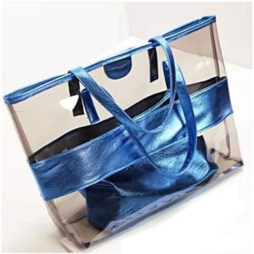 Fashion Lady Women Transparent Clear Shoulder Bag Handbag Jelly Candy Beach Bags