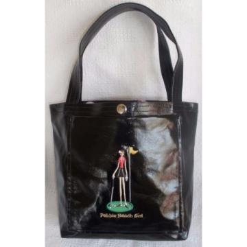 Pebble Beach Girl Golf Links Tote Bag Black 1919 Handbag / Shoulder Bag