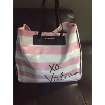 NWT VICTORIA'S SECRET TOTE SHOPING BAG  STIPED BEACH SIZE XL