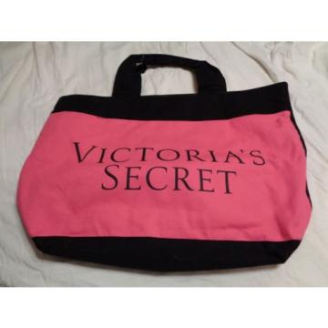Victorias Secret Pink Black Red XL Tote Bag / Shopper / Beach
