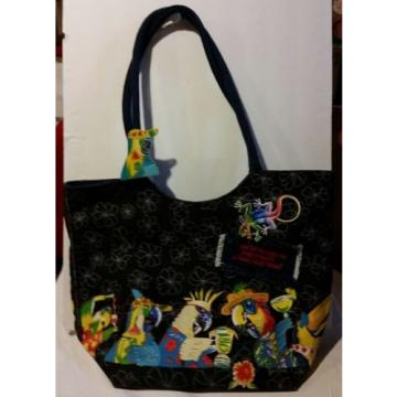 PARROT MARGARITA BEACH VACATION CANVAS TOTE BAG