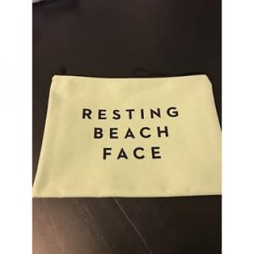 "BRAND NEW UNOPENED Milly Zip Pouch Clutch Bag ""Resting Beach Face"""