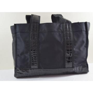 Tory Burch, Beach Bag, Black, Tote, Gym Bag, Leather, Nylon, Shopbop
