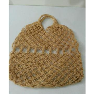 Jute Crochet Hobo Shoulder Beach Bag Large Tan
