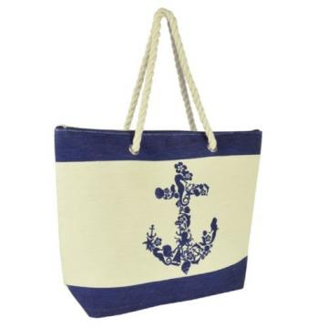Anchor Design Shoulder / Beach / Shopping Bag with Rope Handle