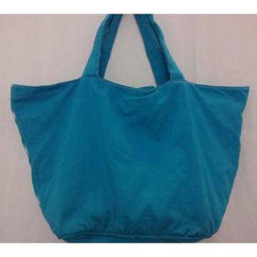 Victorias Secret PINK Beach Bag Purse Cotton Sky Blue