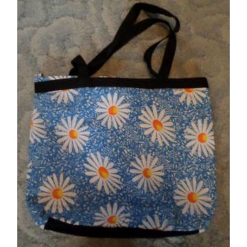 BLUE SKY BLUE WITH DAISIES TOTE BAG PURSE BEACH BAG