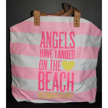 Victoria's Secret Angels Shopper / Tote / Beach Bag *New w/o tags* Pink & White