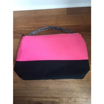 Victoria Secret VS Pink Black Beach Cooler Neoprene Insulated Tote Pool Bag NEW