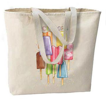 Ice Pops Summer Treats New Large Canvas Tote Bag Summer Beach Travel