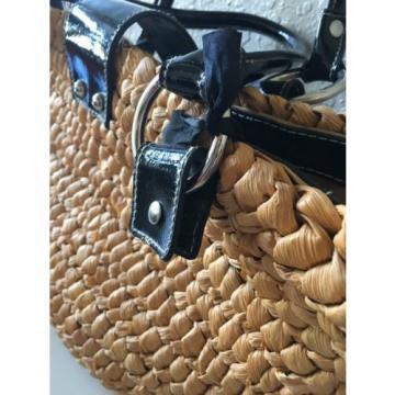 Kathy Van Zeeland Straw Purse Handbag Beach Bag