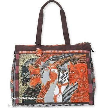 Laurel Burch Horses Moroccan Mares Lg TRAVEL Tote Bag Tack Beach Cruise Sport Nw
