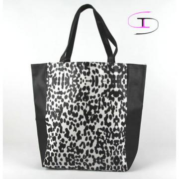 Victoria's Secret Angels Leopard Faux Leather Tote Shopper Beach Book Bag  VS909