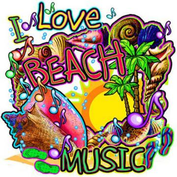 I Love Beach Music New Large Canvas Tote Bag Travel Shop Neon Cool