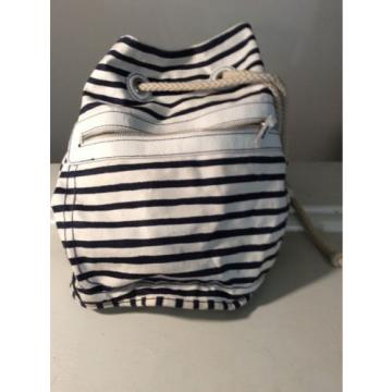 GAP JEANS NAVY STRIPED SOFT CANVAS Nap Sack Beach bag